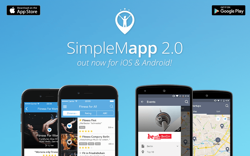 SimpleMapp App Creator for Locations, Events and more